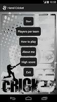 Screenshot of Hand Cricket