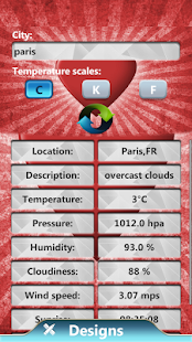 Valentine Weather Clock Widget - screenshot