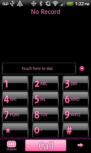 GO Contacts Black Pink Theme