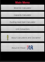 Screenshot of HVAC Utility App