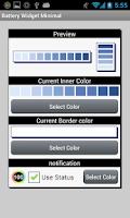 Screenshot of Battery Widget Minimal