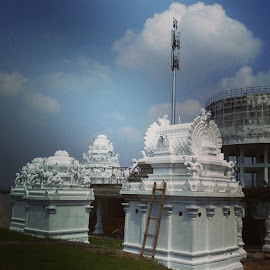 Temple Under Construction by Subashini Madawan Nair - Buildings & Architecture Places of Worship