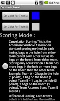 Screenshot of Cornhole Score!
