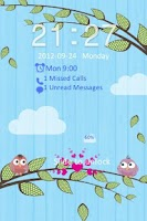Screenshot of Go Locker Love Birds Theme