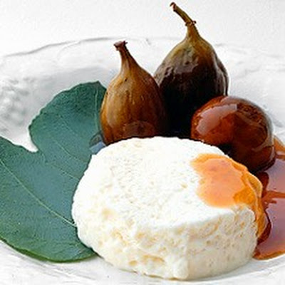 A Compote of Figs in Marsala Wine with Mascarpone Mousse