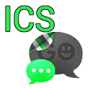 GO SMS THEME -Smooth ICS Green icon