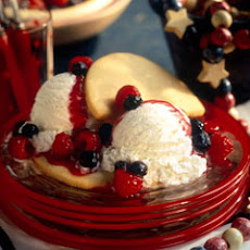 Red, White & Blueberry ''shortcakes''