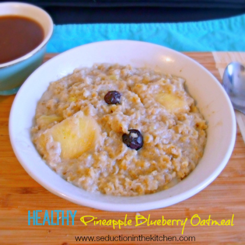 Healthy Pineapple Blueberry Oatmeal