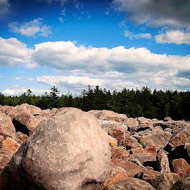 Boulder Field by Nancy Senchak - Landscapes Caves & Formations