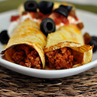 Taco Enchiladas with Cornmeal Crepes