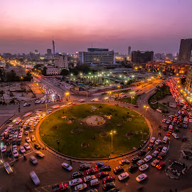 Tahrir sq.  by Samy Osama - City,  Street & Park  Vistas