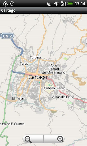 Cartago Costa Rica Map