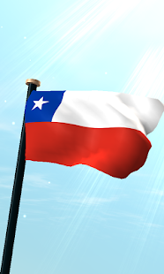 Chile Flag 3D Free Wallpaper - screenshot