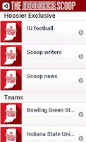 Screenshot of Hoosier Scoop Beta