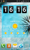 Screenshot of Weather Widget