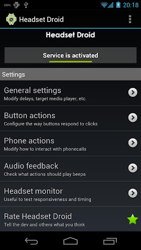 headset-droid-trial for android screenshot