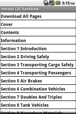 Nevada CDL Handbook