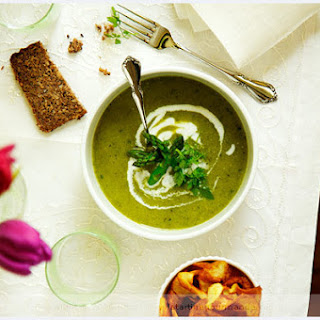 Curried Green Asparagus Soup