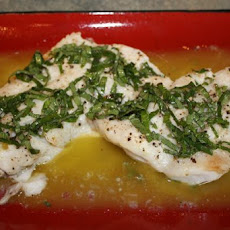 Red Snapper With Basil Vinaigrette