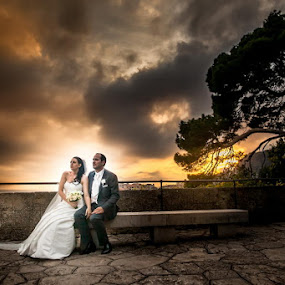 Monaco Port Herculis by Philippe Grosvald - Wedding Bride & Groom