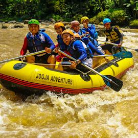 Here we goooo ! by OC Andoko - Sports & Fitness Watersports ( watersport, adventure, yihaaa, fun, rafting, river )