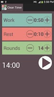 Screenshot of Clean Interval Timer