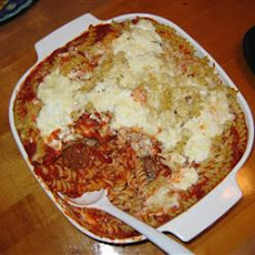 Baked Ziti with Turkey Meatballs