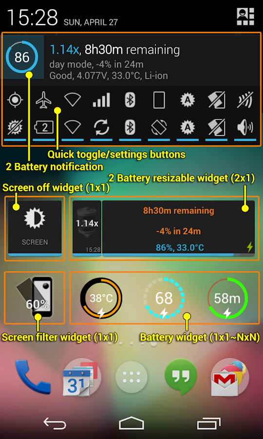 2 Battery Pro - Battery Saver Screenshot 1