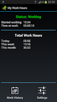 Screenshot of My Work Hours