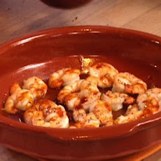 Oven Roasted Shrimp with Toasted Garlic and Red Chile Oil