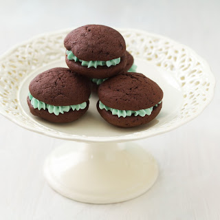 Mini Mint Whoopie Pies