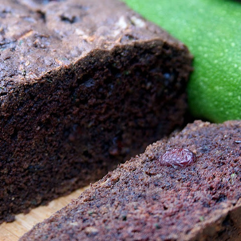 Vegan Chocolate Cranberry Zucchini Bread