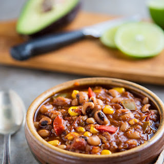 Black-eyed Pea Chili with Quinoa and Corn