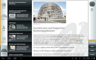 Screenshot of Deutscher Bundestag