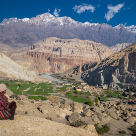 View into Kingdom of Mustang / Nepal by Frank Tschöpe - Landscapes Travel ( mustang, mountains, himalaya, nepal )