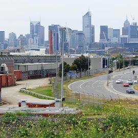City of Melbourne by Jefferson Welsh - City,  Street & Park  Skylines