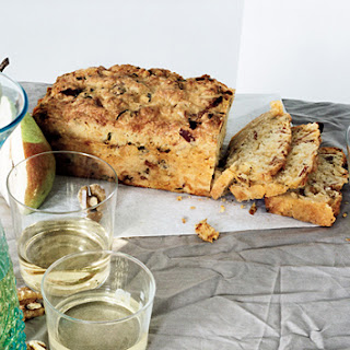 Bacon Cheddar Quick Bread with Dried Pears
