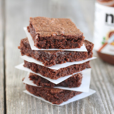 Easiest Nutella Brownies