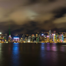 Hong Kong Light Show by Ed C Photography - Buildings & Architecture Office Buildings & Hotels