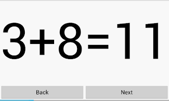 Screenshot of Math Flashcards