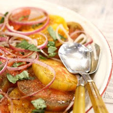 Tomato, Basil, and Red Onion Salad