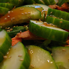 Korean Carrot and Cucumber Salad