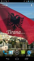 Screenshot of 3D Albania Flag LWP +