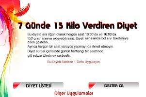 Screenshot of 7 Günde 15 Kilo Verdiren Diyet