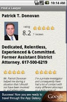 Screenshot of Find A Lawyer