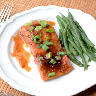 Oven Roasted Salmon with Ginger Soy Glaze