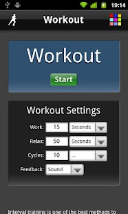Workout - screenshot