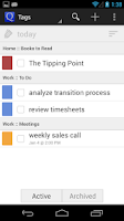 Screenshot of GQueues | Tasks & To-Do Lists
