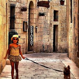 Movement by Francis Xavier Camilleri - Babies & Children Children Candids ( girl, malta, mdina, architecture, dog, motion blur )
