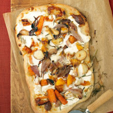 Roasted Fall Vegetable and Ricotta Pizza